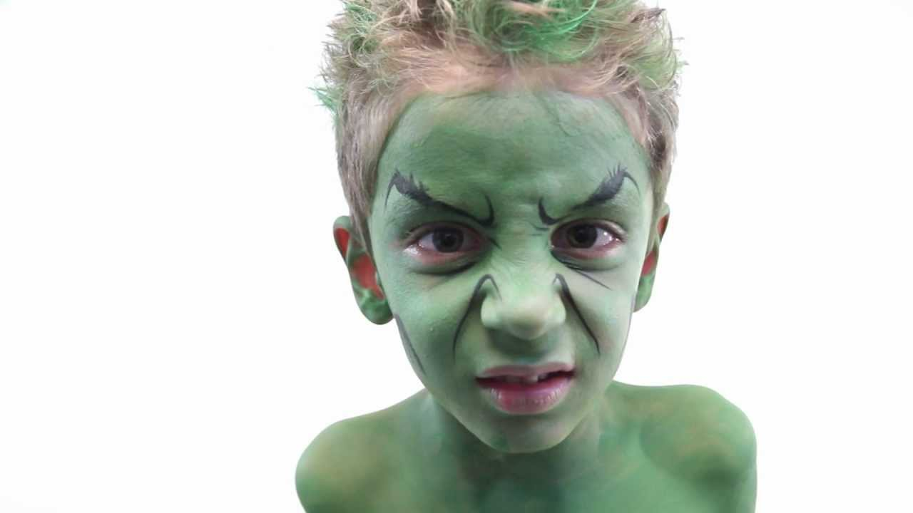 Hulk Face Paint - YouTube