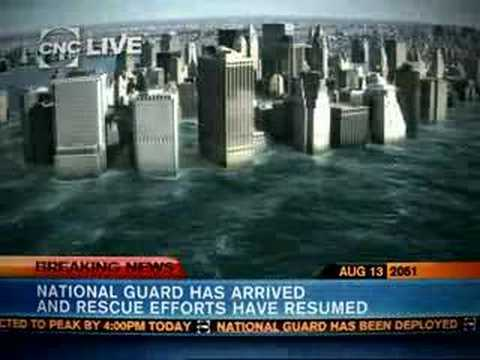 New York City underwater -- CNC Breaking News (Aug 13, 2051)