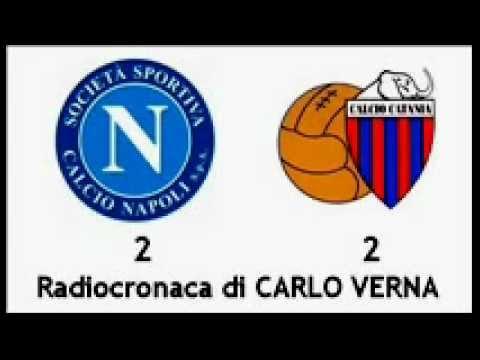 NAPOLI-CATANIA 2-2 – Radiocronaca di Carlo Verna (25/3/2012) da Radiouno RAI