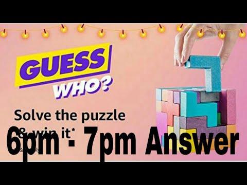 Amazon Guess Who Quiz ? 6pm - 7pm Answer | Win Saregama Carvan | 7th October 2018