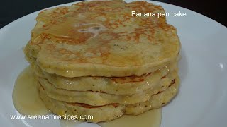 Banana Pancake - Tea time snacks - Kids recipe