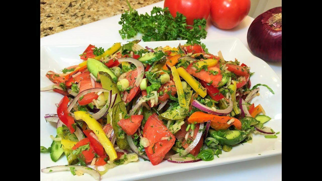 Салат из овощей рецепты с простые и вкусные