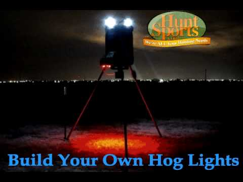 Wild Boar Hog Hunting LED Night Hunting Feeder Light Plan & Kits Solar Power Dusk Dawn Part 1