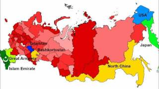 Future map of Russia in 2050