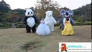 adults inflatable Giant Koala bear mascot costume funny mascot costumes for sale