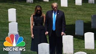 President Donald Trump And Melania Trump Visit Arlington National Cemetery | NBC News