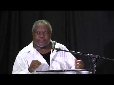 Political Scientist, Dr. George Belle speaking at Barbados' People's Assembly