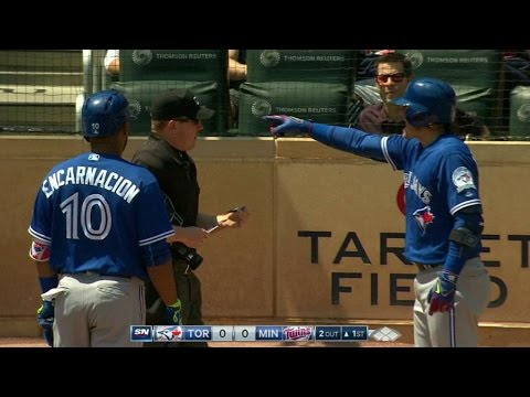 TOR@MIN: Donaldson gets ejected in the 1st