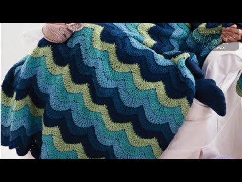 How to Crochet An Afghan: Ocean Waves