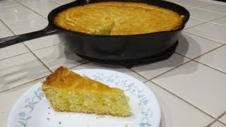 How To Make Sweet Golden Cornbread - Cast Iron Cooking