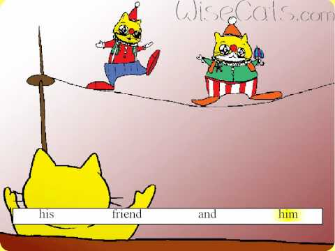 Asl105 - 'the Big Fat Clown' Song Teaching Kids Sight Words: Up, On, And, Big video