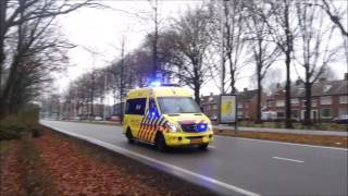 Ambulances 20-143,20-147,20-151 met spoed in Tilburg en Waalwijk