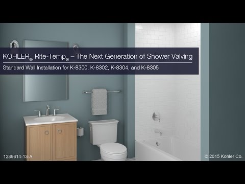 Standard Wall Installation - Rite-Temp - The Next Generation in Shower Valving