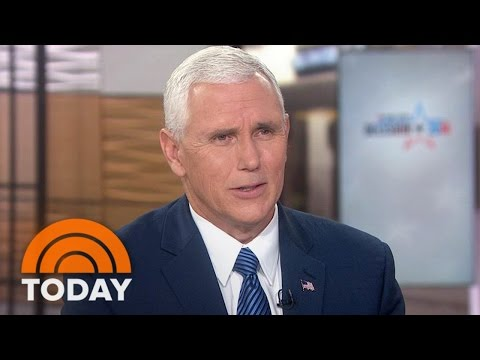 Mike Pence Talks Plane Accident, 'Rigged' Election, Obamacare Premiums | TODAY