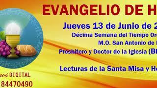 EVANGELIO DE HOY jueves 13 de junio de 2019 Oremos Digital