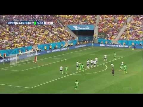 France Nigeria 2014 World Cup Full Game ESPN USA Round of 16 r16