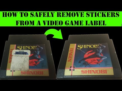 How to Safely Remove Stickers from a Video Game Label