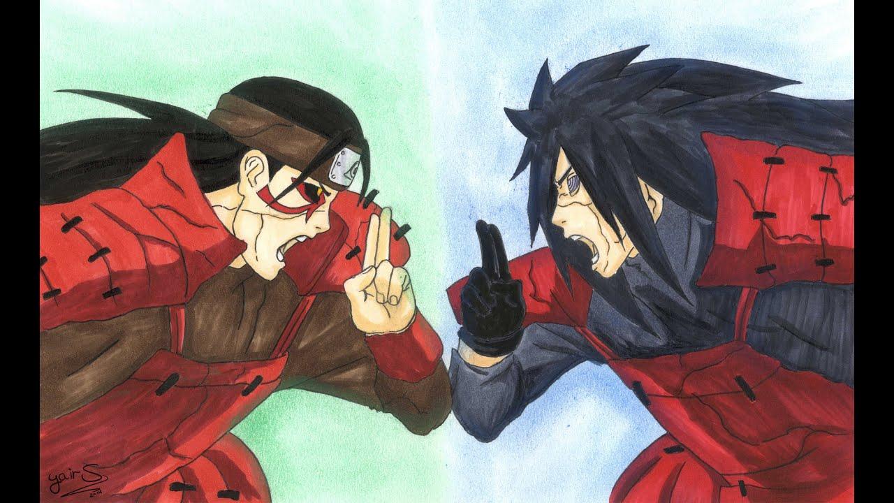 Drawing Madara Uchiha vs Hashirama Senju - YouTube