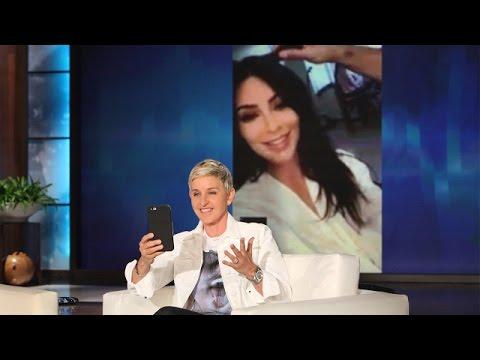 Ellen FaceTimes with Kim Kardashian