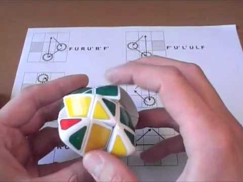 сборки пирамиды Рубика.