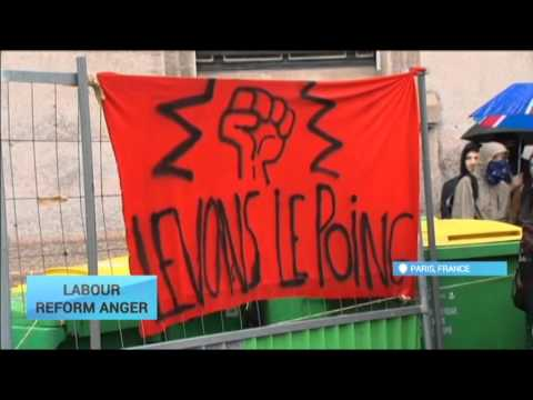 Labour Reform Anger: High schoolers protest against proposed French labour reforms