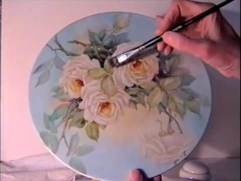 Watch China Painting Tutorial - Peace Roses - Barbara Duncan