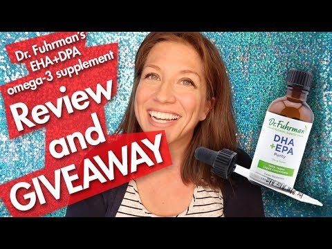 Dr. Fuhrman DHA+EPA Purity Product Review. Benefits and GIVEAWAY