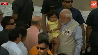 PM Modi Plays With Small Girl Before Voting | Narendra Modi Vote | Ahmedabad | BJP