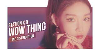 Seulgi X Sinb X Chungha X Soyeon Wow Thing Line Distribution Color Coded Station X 0