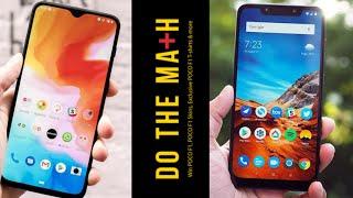 Xiaomi Poco F1 VS One Plus 6T | Lets Do the Math Comparison | Hindi - हिंदी