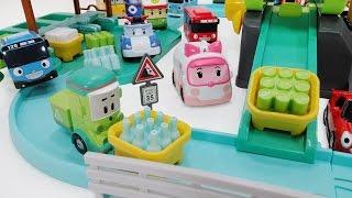 뽀로로 와 로보카 폴리 클리니의 재활용센터 타요 수퍼윙스 장난감 놀이 Robocar Poli Recycle Center pororor toys Робокар Поли