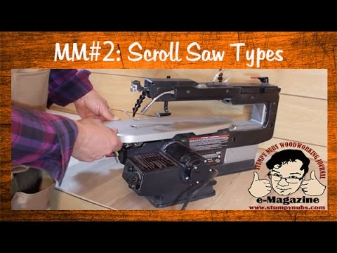 Mustache Mike's Scroll Saw Basics #2- A cheapo. an oldie and a pricey Dewalt DS788