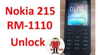 Nokia 215 rm-1110 Rest User Code / Unlock Without Losing Data