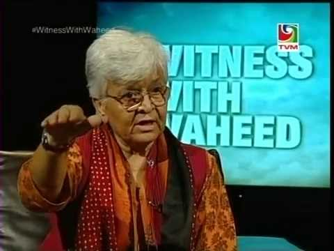 Feminist activist, #KamlaBhasin 's 2nd Episode of One2One interview with #WitnessWithWaheed