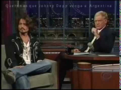 Johnny Depp con Letterman 27-07-06 Completa.  Subtitulada en Español