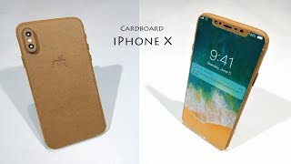 iPhone X : How to make apple iPhone X From Cardboard