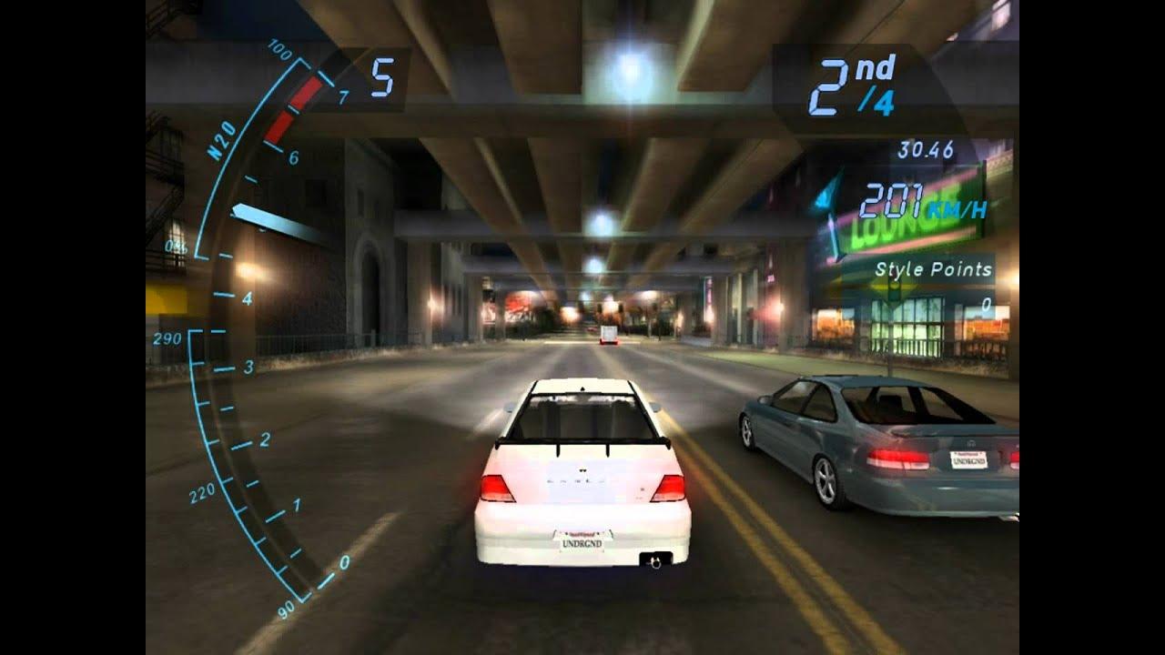 Need For Speed Underground: Drag race - Mitsubishi Lancer - YouTube