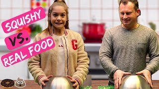 SQUISHY VS. REAL FOOD CHALLENGE | Emma Keuven
