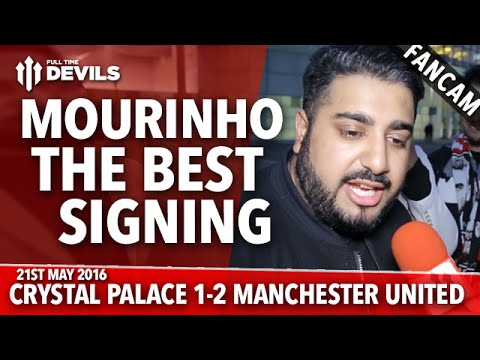 José Mourinho the BEST Signing! | Crystal Palace 1-2 Manchester United | FANCAM