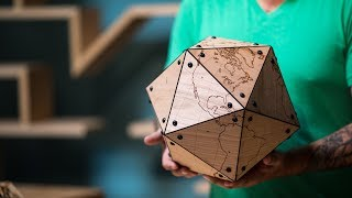 Making a Large Laser-Cut Dymaxion Globe!