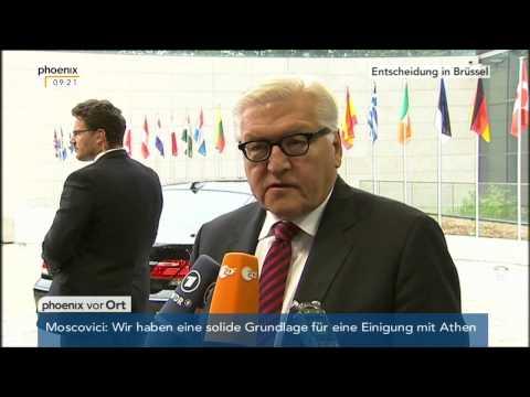 Griechenland: Statement von Frank-Walter Steinmeier am  22.06.2015