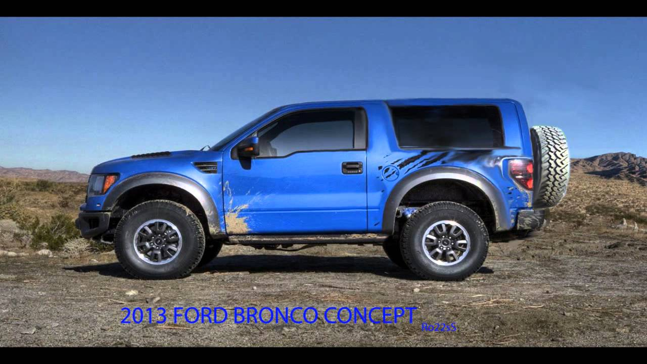 Ford Bronco Concept 2015 Raptor Svt Package Ro22ss