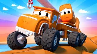 Monster Town - The Monster Truck & the Waterfall | Monster Trucks of Car City Cartoon for Children