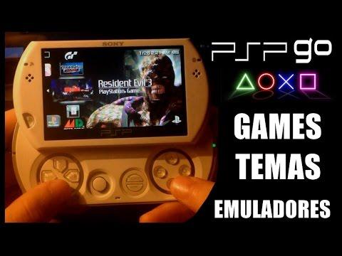 PSP GO DESTRAVADO - JOGOS, EMULADORES E TEMAS