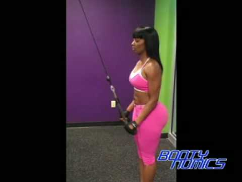 Triceps Pushdown ( triceps/back of arms) Video