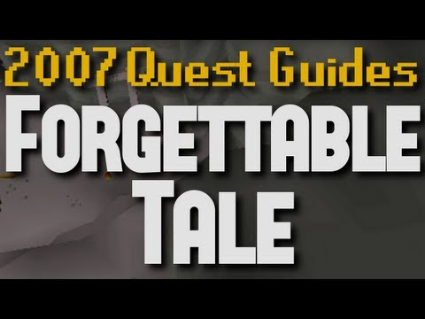 Runescape 2007 Quest Guides: Forgettable Tale of a Drunken Dwarf