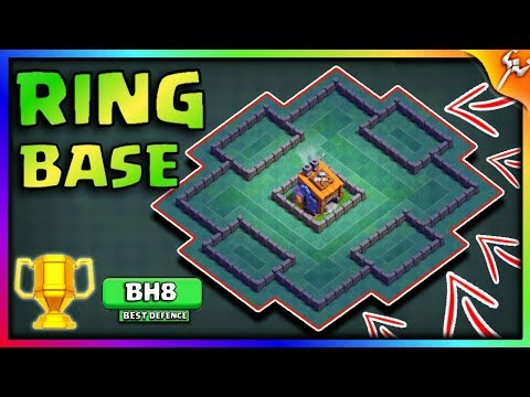 (4.5 MB) Builder Hall 8 INSANE Ring Base   BH8 Engineered base   Anti Everything Base 100% Victory NEW 2018