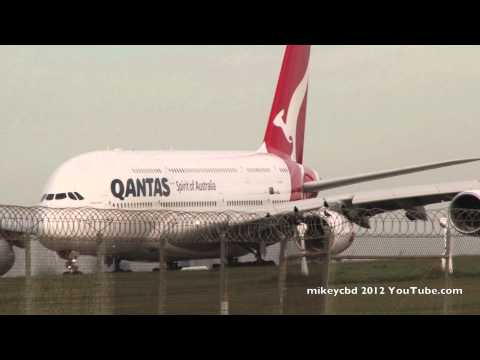 QF9 Qantas A380 Spirit of Australians Take Off Melbourne Airport ATC Tower Ground