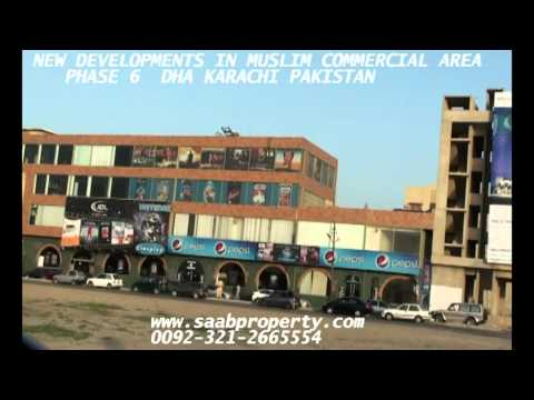 MUSLIM  commercial studio apartments and shops phase 6 DHA KARACHI PAKISTAN  ENGLISH