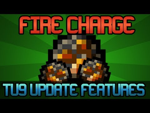 Minecraft Xbox 360 - FIRE CHARGE - TU9 Update Information / Preview! (Title Update 9 Info / TU9 New Features)